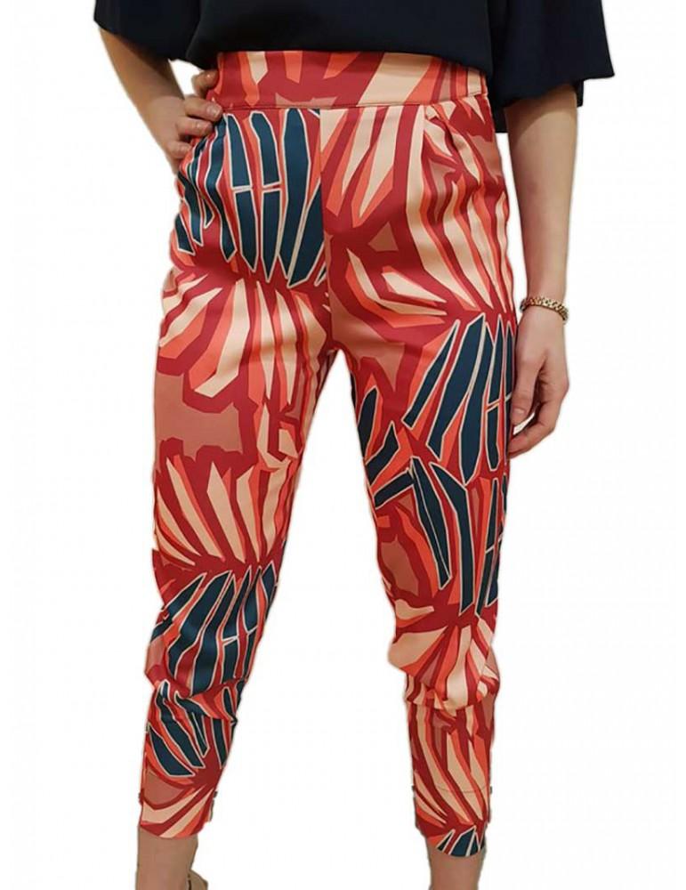 Fracomina pantalone vita alta fantasia fr18smginger453 FRACOMINA PANTALONI DONNA product_reduction_percent