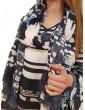 Fracomina pashmina blu e crema 203 fr18sp203695 FRACOMINA FOULARD E SCIARPE DONNA product_reduction_percent