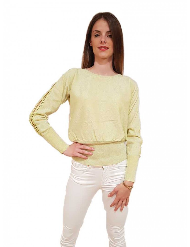 Fracomina pullover verde acido fr18sm812d54 FRACOMINA MAGLIE DONNA product_reduction_percent