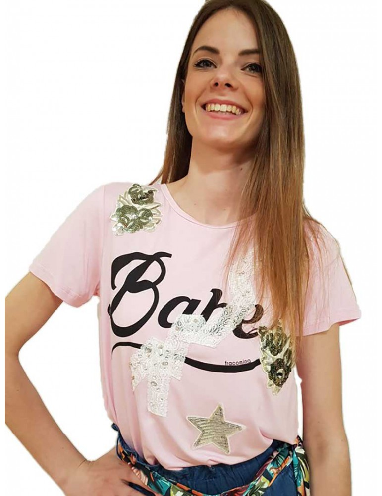 Fracomina t shirt rosa fr18sp355238 FRACOMINA T SHIRT DONNA product_reduction_percent