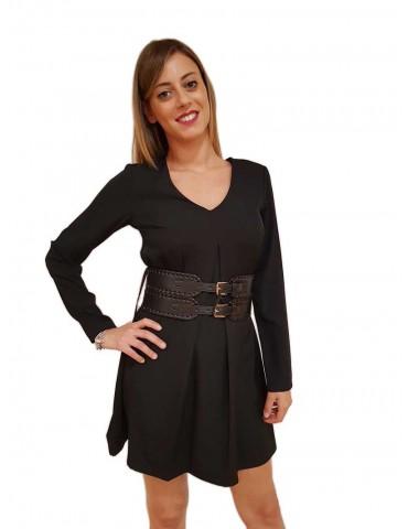 Fracomina vestito donna corto nero