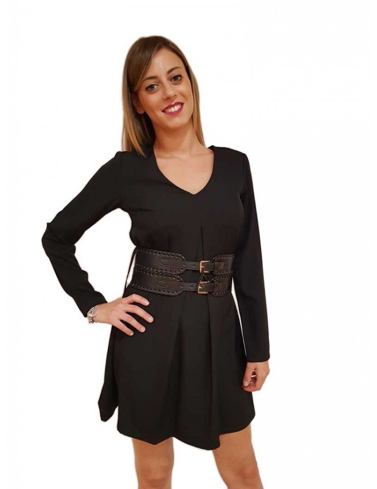Fracomina vestito donna corto nero fr18fp535053 FRACOMINA ABITI DONNA product_reduction_percent