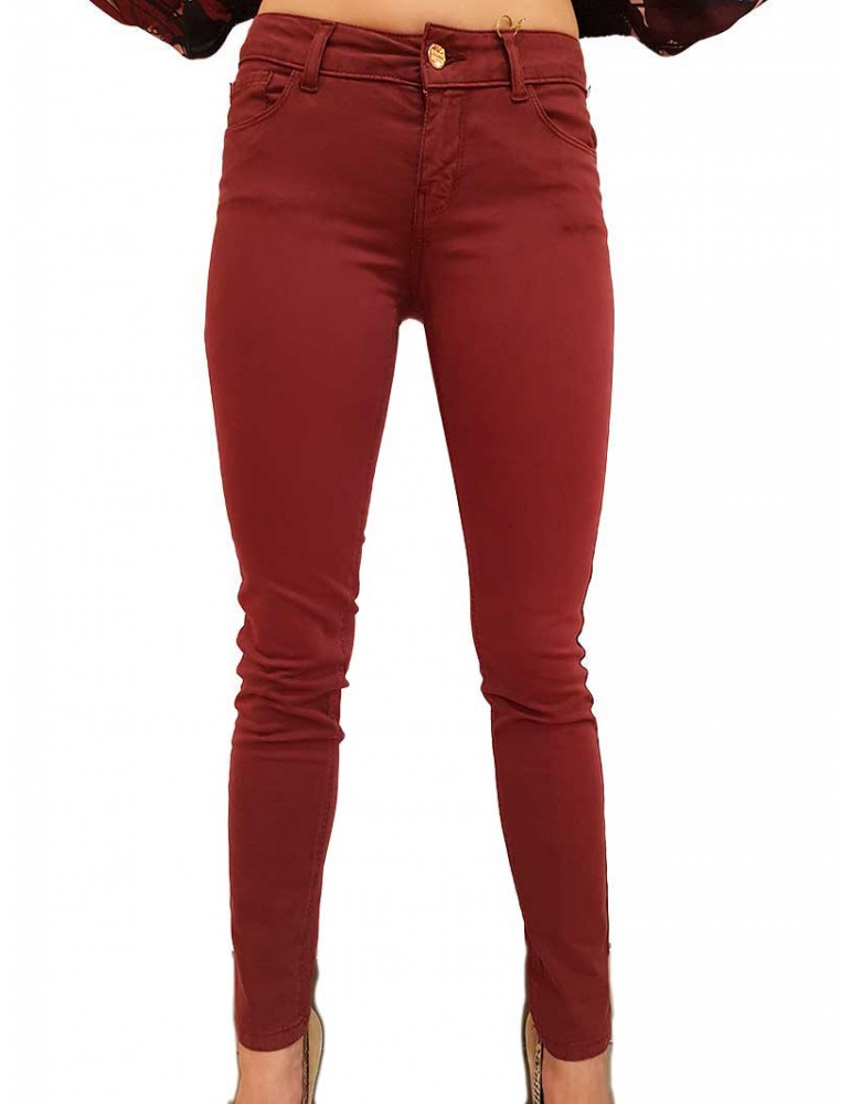 Pantalone bordeaux Fracomina Tina fr19fpctina11587 FRACOMINA PANTALONI DONNA product_reduction_percent