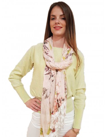 Powder Fracomina scarf