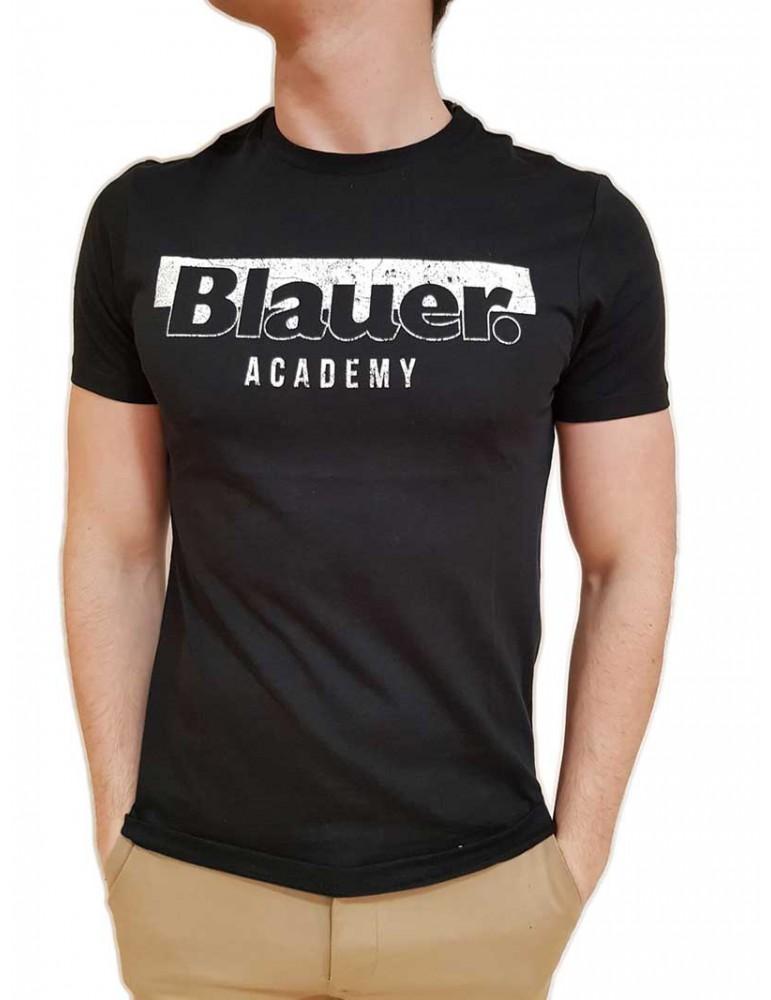 Blauer maglietta nera con logo Academy 19SBLUH02154004547999 BLAUER USA T SHIRT UOMO product_reduction_percent