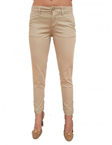 Blauer pants woman satin gray