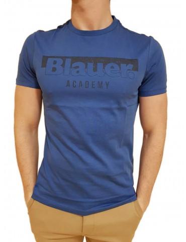 Blauer t shirt uomo bluette con logo Academy