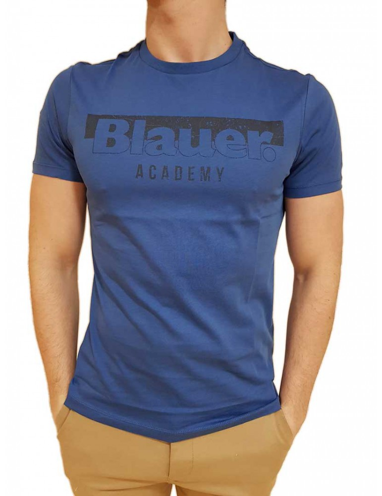 Blauer t shirt uomo bluette con logo Academy 19sbluh02154004547876 BLAUER USA T SHIRT UOMO product_reduction_percent