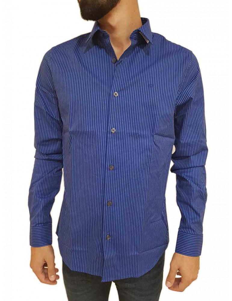Calvin Klein camicia uomo slim bluette logo j30j309433402 CALVIN KLEIN JEANS CAMICIE UOMO product_reduction_percent