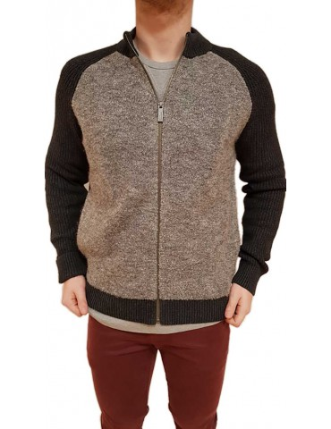 Calvin Klein cardigan zip grigio