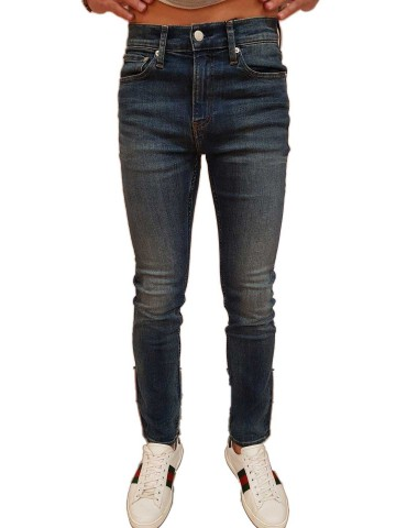 Calvin Klein jeans uomo 026 slim Mickey blu