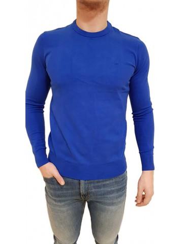 Calvin Klein maglia uomo blu royal tinta unita j30j309540