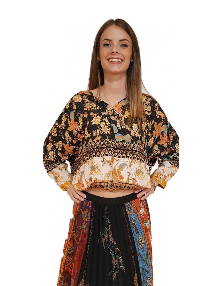 Desigual blusa nera Sumatra 18wwbw112000 DESIGUAL CAMICIE DONNA product_reduction_percent