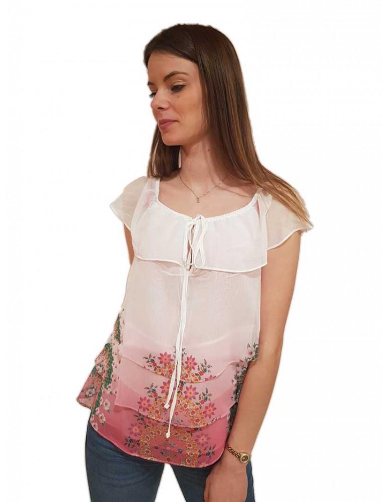 Desigual blusa rosa Alyssa con balze  19swbw893012 DESIGUAL CAMICIE DONNA product_reduction_percent