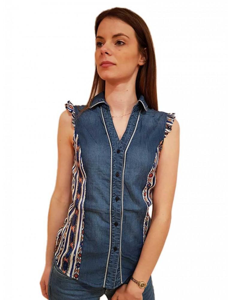 Desigual camicia di jeans Naha 19swcd035008 DESIGUAL CAMICIE DONNA product_reduction_percent