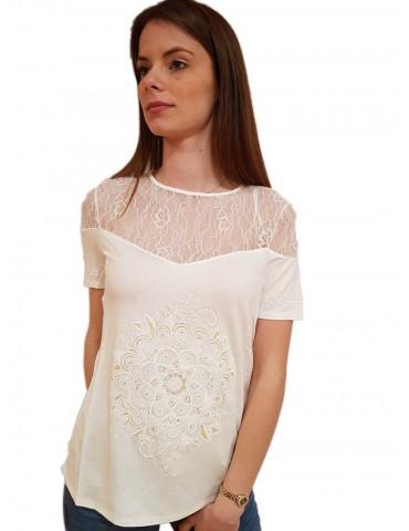Desigual maglietta bianca Cannes