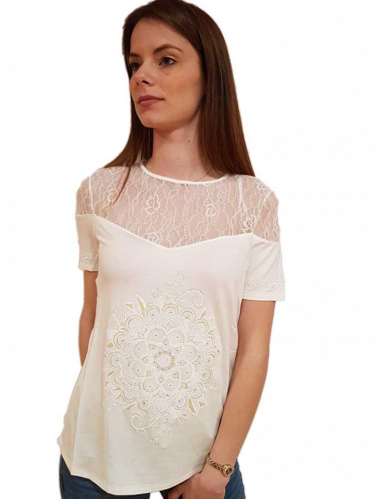 Desigual maglietta bianca Cannes 19swtkam1031 DESIGUAL T SHIRT DONNA product_reduction_percent