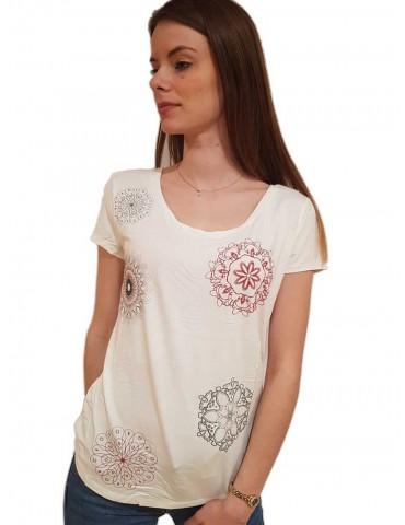Desigual t shirt bianca minimalista Sonja