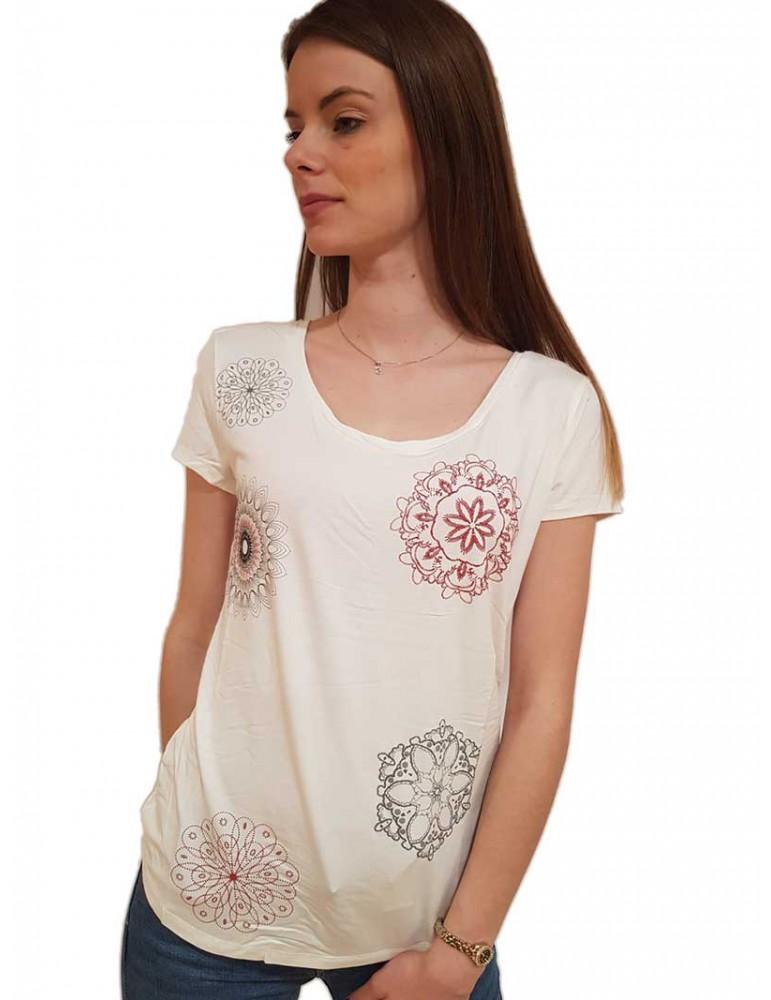 Desigual t shirt bianca minimalista Sonja 19swtka11000 DESIGUAL T SHIRT DONNA product_reduction_percent