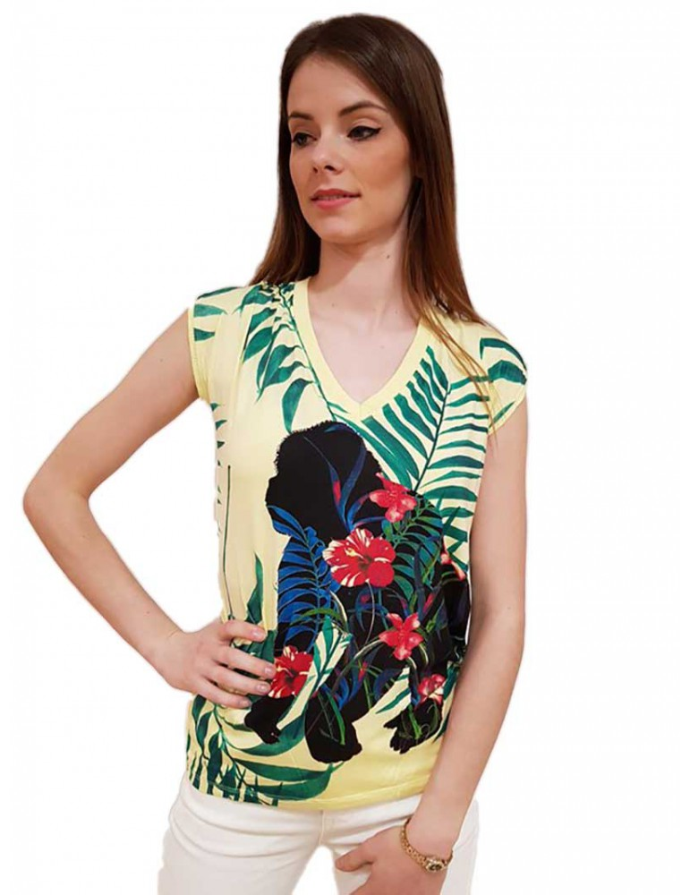 Desigual t shirt gialla Dephine 18swtkfp8058 DESIGUAL T SHIRT DONNA product_reduction_percent
