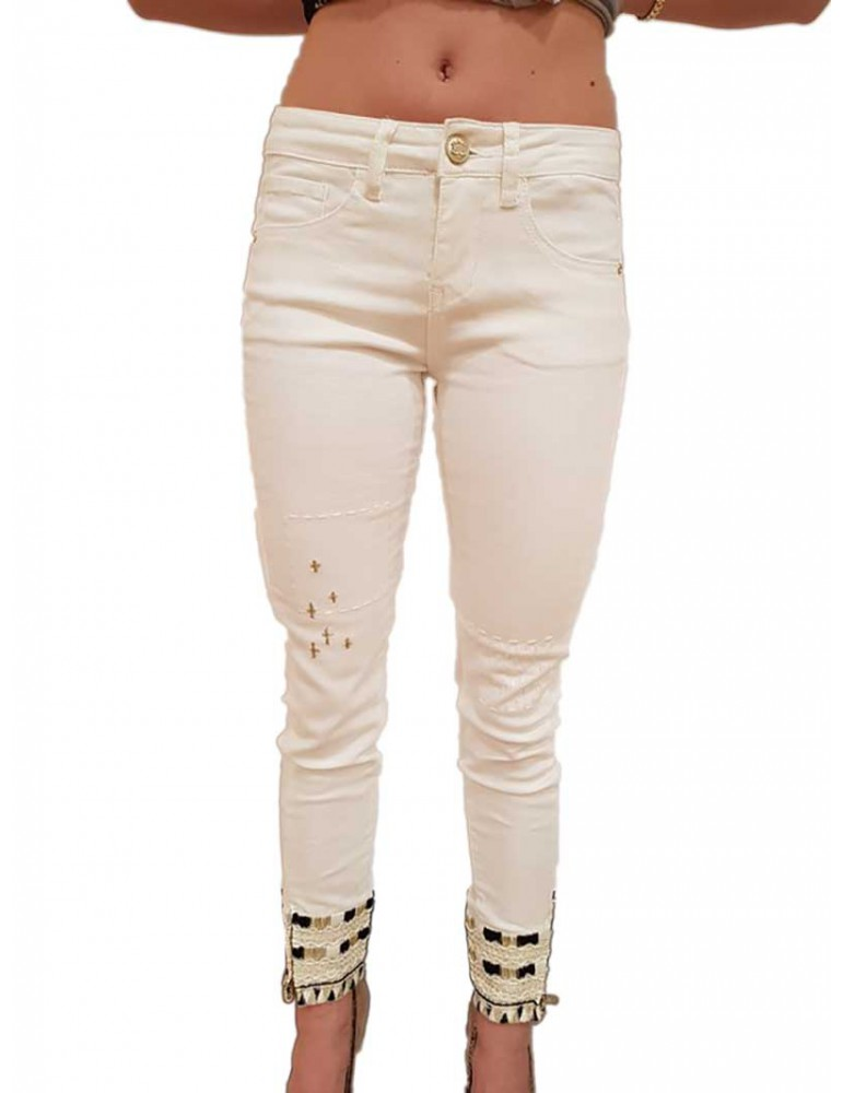 Jeans Desigual Luna bianco 18swdd221030 DESIGUAL JEANS DONNA product_reduction_percent