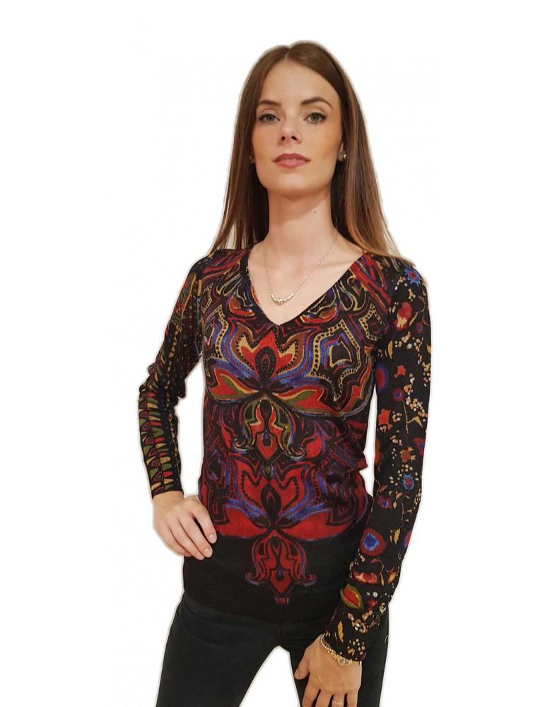 Maglia donna Desigual nera Nevada 18wwjfak2000 DESIGUAL MAGLIE DONNA product_reduction_percent