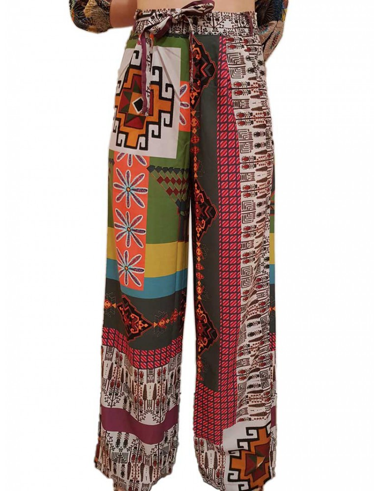 Pantalone Desigual stampato Nicole 19swpw104007 DESIGUAL PANTALONI DONNA product_reduction_percent