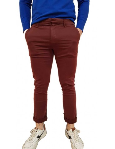 Calvin Klein pantalone bordeaux chino slim