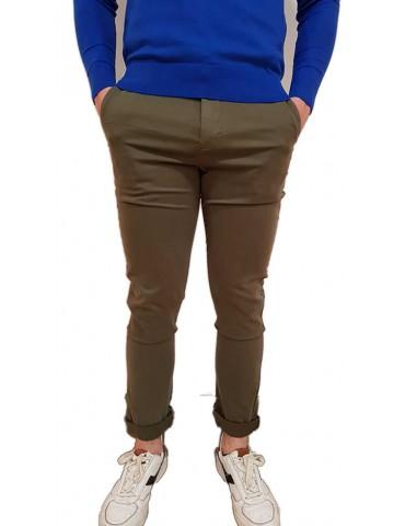 Calvin Klein pantalone verde chino slim j30j309569