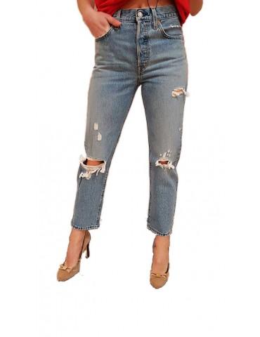 Levi's jeans donna 501 crop
