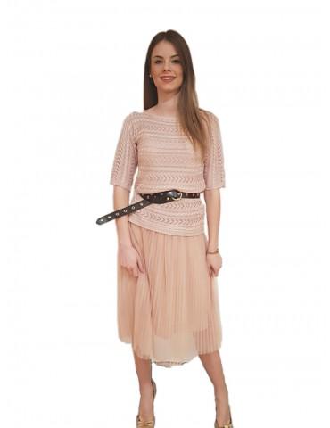 Fracomina vestito lungo rosa Yokole