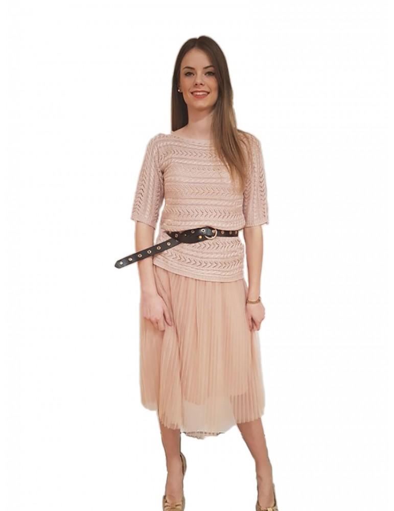 Fracomina vestito lungo rosa Yokole fr18smyokole238 FRACOMINA ABITI DONNA product_reduction_percent