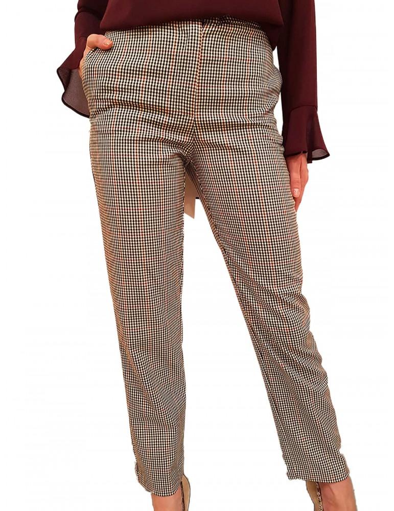 Pantalone donna pied du poule Fracomina Griseide fr19fmgriseide453 FRACOMINA PANTALONI DONNA product_reduction_percent