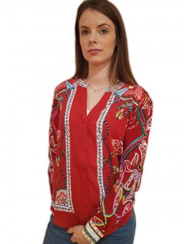 Desigual Camicia rossa stampata Silvina