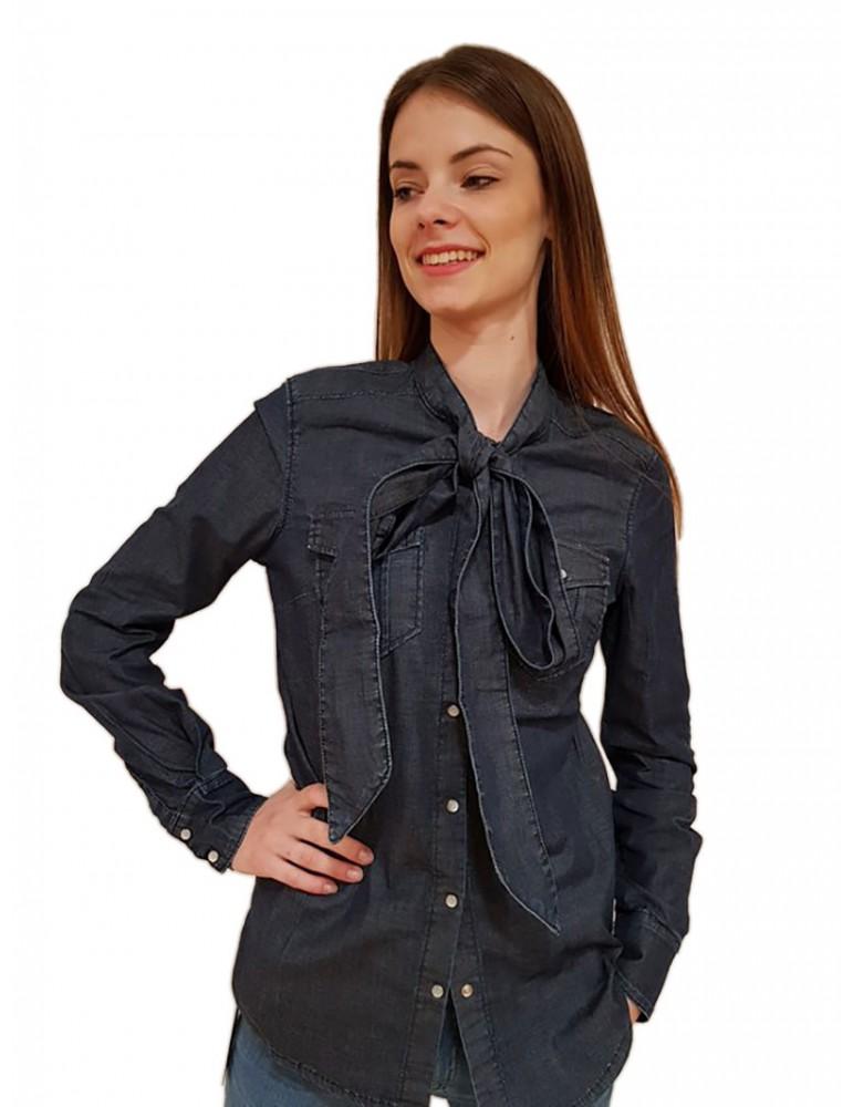 Camicia di jeans Fornarina Clare be184604d912ln FORNARINA CAMICIE DONNA product_reduction_percent