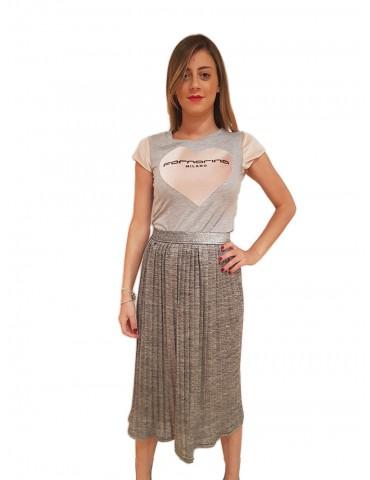 Fornarina grey garish skirt