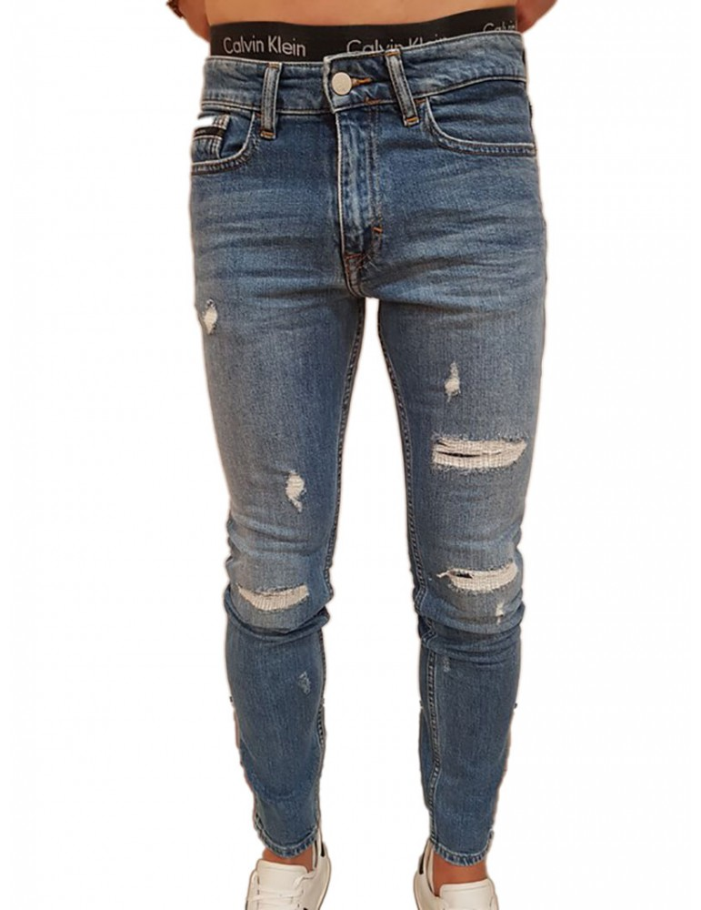 Jeans uomo skinny Calvin Klein blu Manchester j30j307463911 CALVIN KLEIN JEANS JEANS UOMO product_reduction_percent
