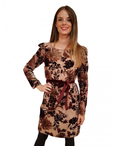 Gaudi abito donna elegante floccato