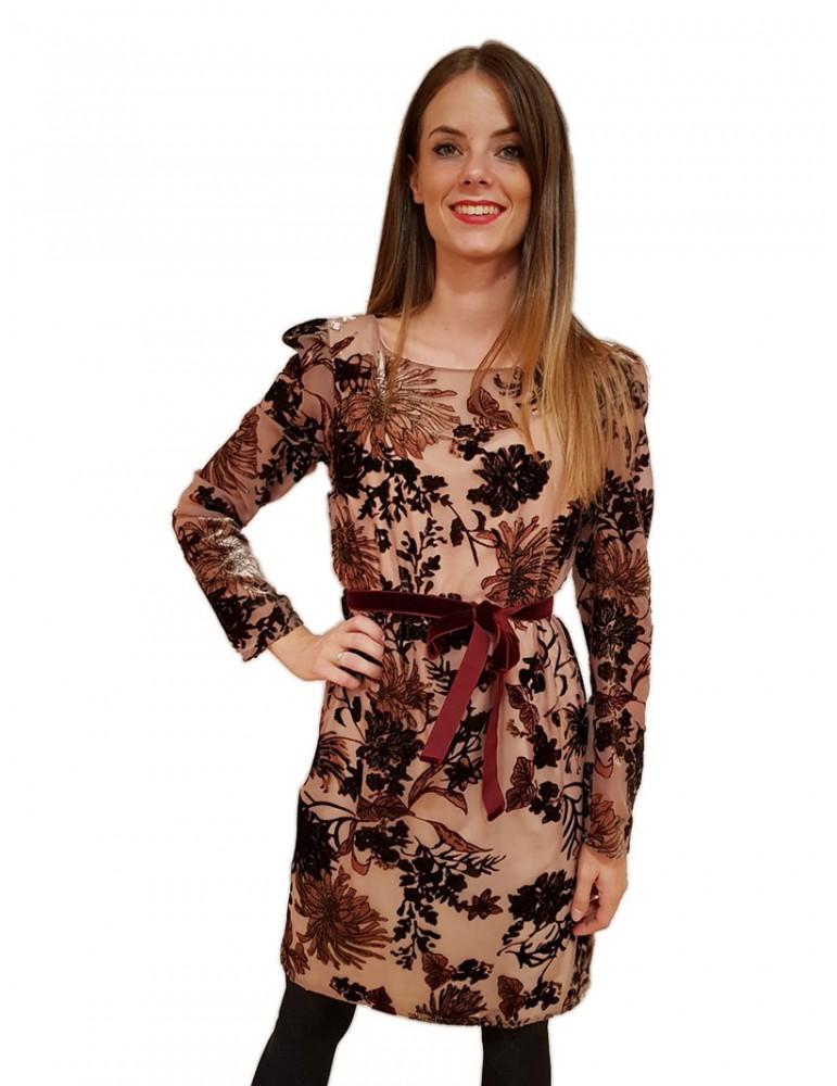Gaudi abito donna elegante floccato 821fd15021821025-01 GAUDI ABITI DONNA product_reduction_percent
