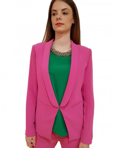 Gaudì woman jacket in cady fuxia