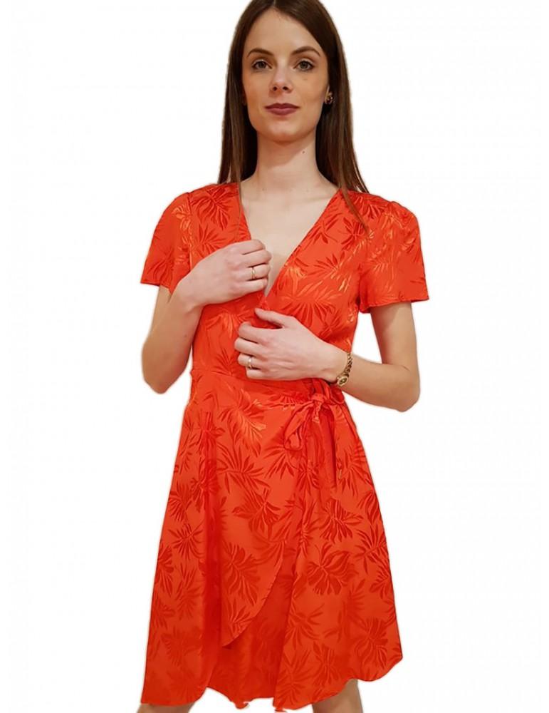Gaudi abito jacquard stampa floreale corallo 911fd150272466 GAUDI ABITI DONNA product_reduction_percent