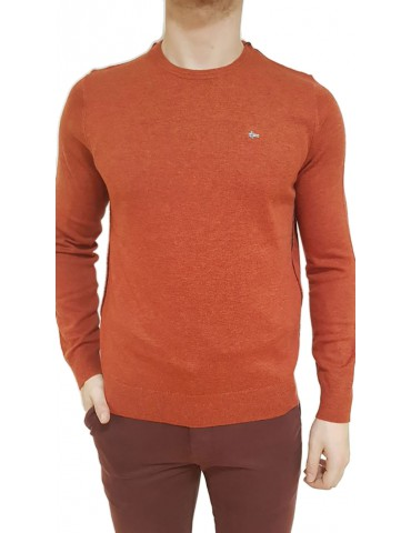 Napapijri maglia girocollo Damavand rosso arancio