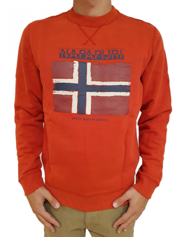Napapijri felpa Balys rossa n0yhwma60 NAPAPIJRI FELPE UOMO product_reduction_percent