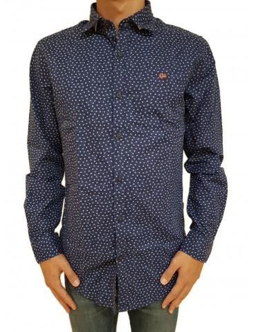 Napapijri camicia blu Garb