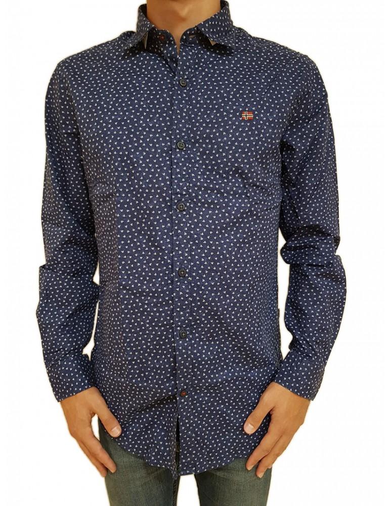 Napapijri camicia blu Garb n0yhxmf14 NAPAPIJRI CAMICIE UOMO product_reduction_percent
