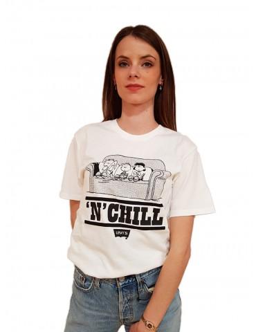 Levi's® t shirt donna bianca Peanuts