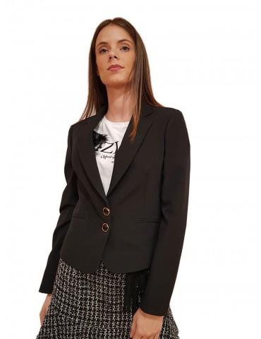 fracomina giacca corta regular elegante nera