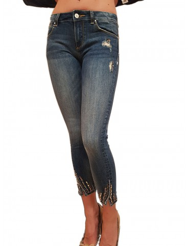 Fracomina jeans Betty 6 cropped shape up stone bleach