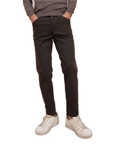 Trussardi pantalone slim 370 close grigio