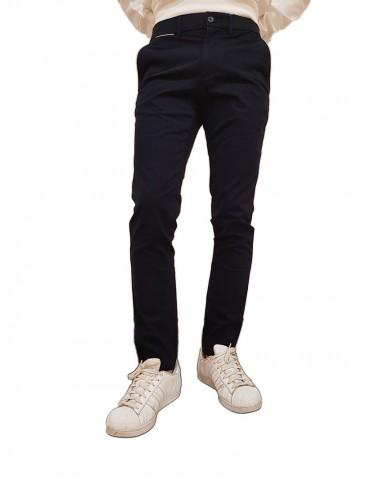 Tommy Hilfiger pantaloni chinos blue Bleecker cotone organico